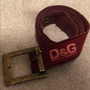 Dolce & Gabbana D&G vintage belt (c. 2007)